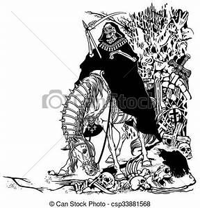 Grim reaper in cemetery . Grim reaper symbol of death and ...