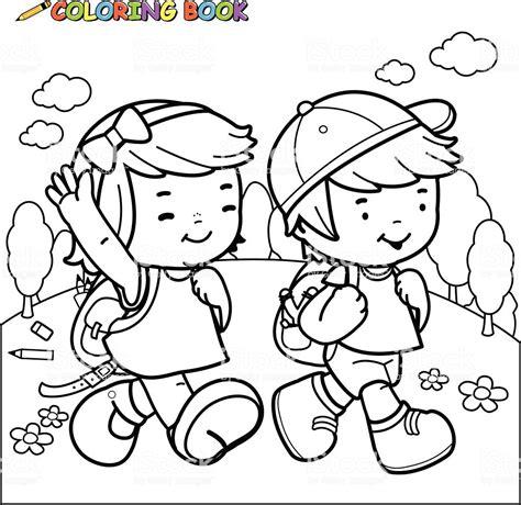 Ilustracin De Libro Para Colorear Con Los Nios A La