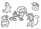 Dora Coloring Explorer Pages 1026 Printable Print sketch template