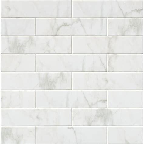 Msi Marmi Blanco White 4 In X 16 In Glazed Ceramic Wall