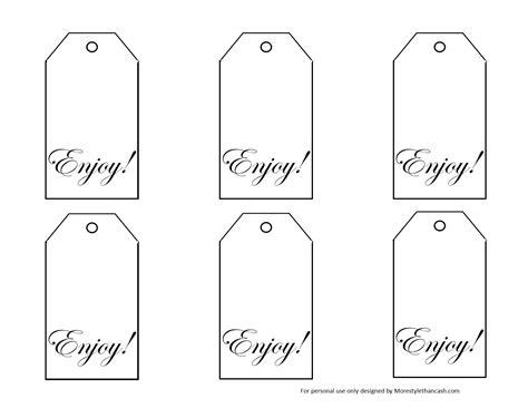 printable black  white gift tags