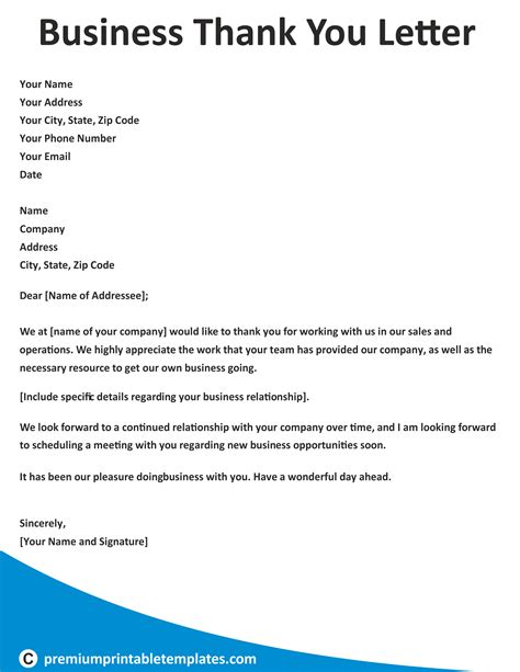 business   letter business letter templates