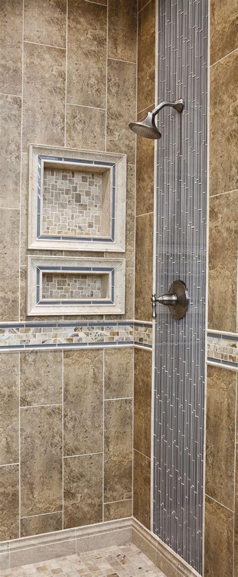 vertical tiled shower design glass  ceramic wall tile