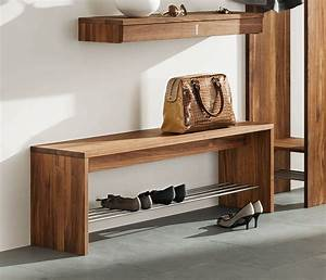 Hall Bench with optional Shoe Rack - TEAM 7 from Wharfside