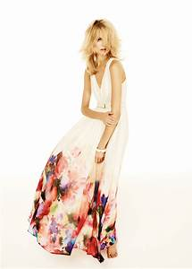 mango watercolor flower maxidress in white 10 lyst With mango femme robe longue