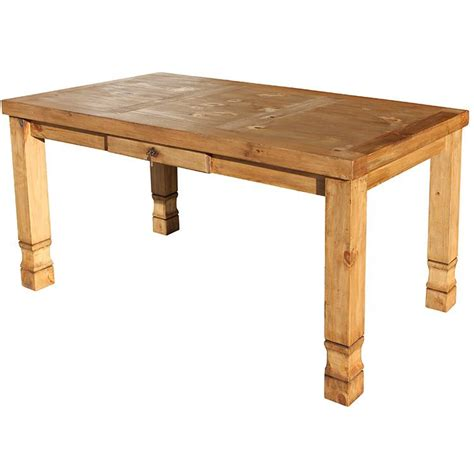 rustic pine collection julio dining table mes28