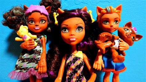 Monster High Clawdeen Wolf Family Siblings Dolls Unboxing