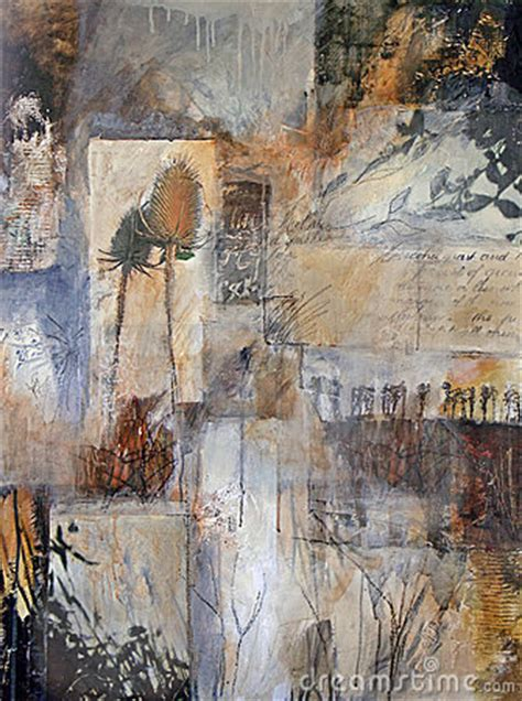 mixed media painting  nature details royalty