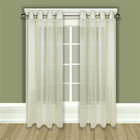 sheer curtain panels with grommets tergaline sheer grommet curtain panel in ivory or white