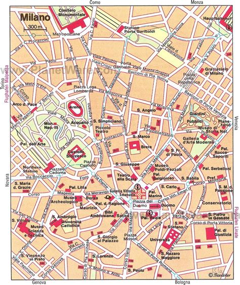 map  milan tourist attractions planetware  travels