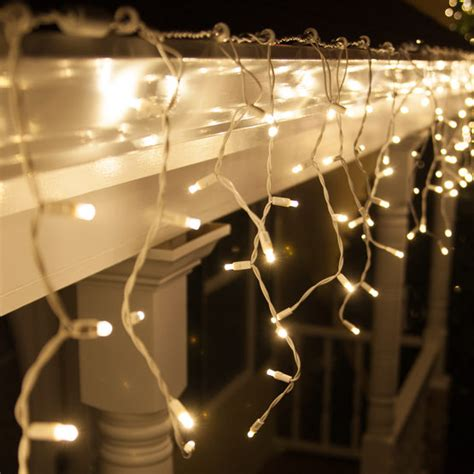 twinkling white christmas lights 70 5mm led icicle lights warm white twinkle white wire