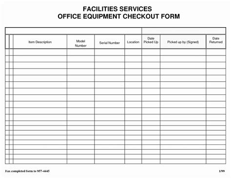 sheet inventory sign out template free in sle