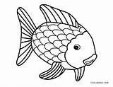 Fish Coloring Pages Rainbow Printable Cool2bkids sketch template
