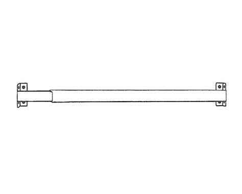 kirsch 28 50 inch 11 16 inch flat sash curtain rod at