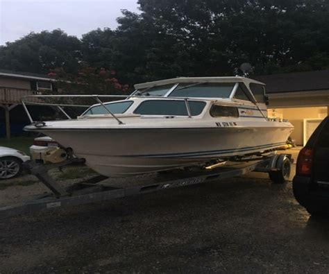 19 Ft Boat by 1975 19 Foot Glasply Cuddy Power Boat For Sale In