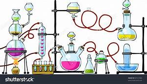 Table clipart science lab - Pencil and in color table ...