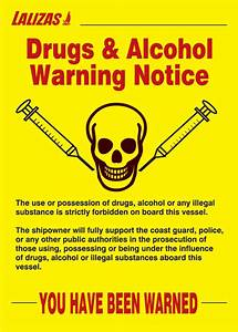 LALIZAS IMO SIGNS - Drugs & Alcohol - Poster