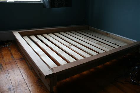 bedroom wooden homemade bed frame   bedroom