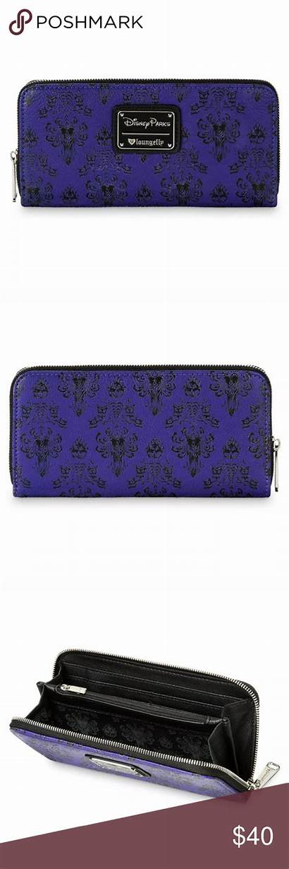 Haunted Mansion Loungefly Wallet Poshmark Disney Leather