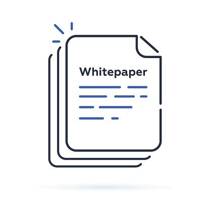 Quality investments are essential not just for the investors but also for the ico issuers. Whitepaper Icon Ico Main Investment Document Company ...