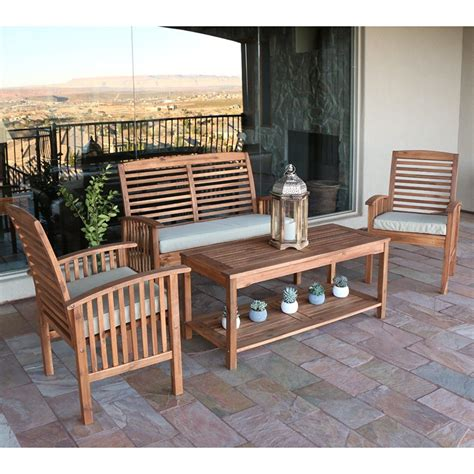 Wooden Outdoor Furniture by Best Acacia Wood Outdoor Furniture 2019 Buying Guide