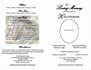 Free editable funeral program template template business for Free editable funeral program templates