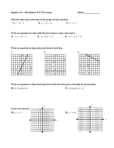 Point Slope Formula Worksheet Worksheets For All  Download And Share Worksheets  Free On