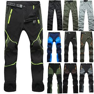 Mens Trousers Tactical Waterproof Cargo Hiking Skiing Climbing Combat Work Pants