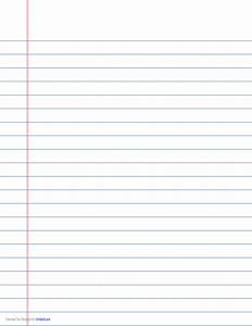 Wide-Ruled Lined Paper on A4-Sized Paper in Landscape ...