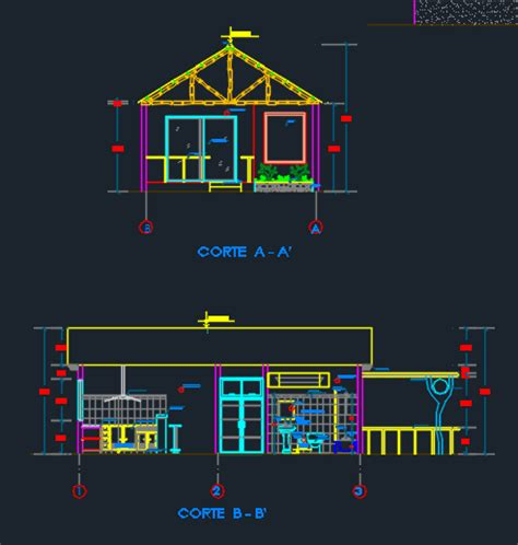 bungalow project  dwg design full project  autocad designs cad