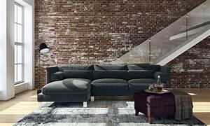 Industrial Style Wohnzimmer Estrich Der Fu Boden Im