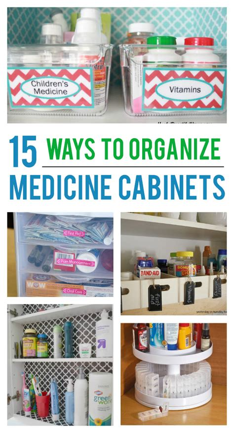 15 Ways To Organize Your Medicine Cabinet