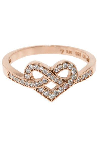Infinity Heart Ring Gold