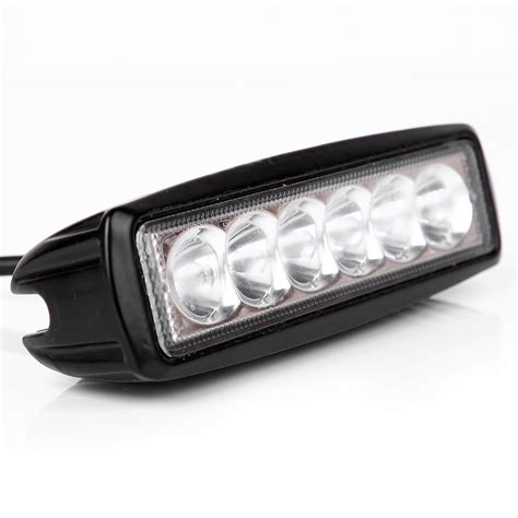 mini 6 inch led light bar 18w offroad led bar led