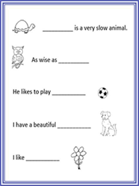 kindergarten basic sentence worksheets