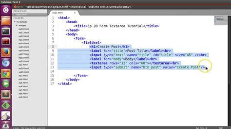 html bassic tutorial ep21 html form fieldset
