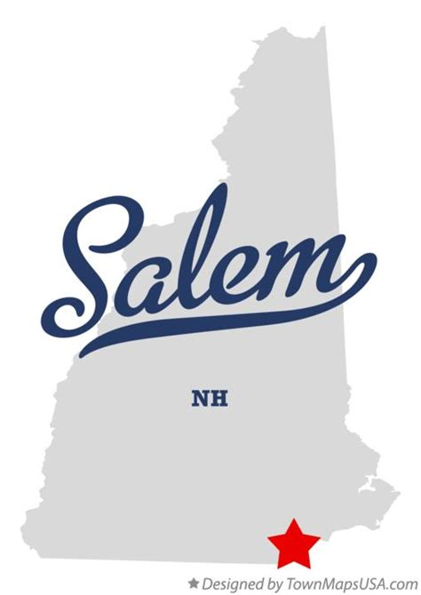 Map of Salem, NH, New Hampshire