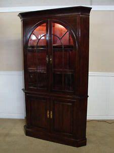 16981pulaski solid cherry corner curio china cabinet on