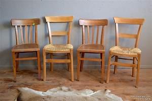 Chaise Bistrot Vintage : chaises bistrot tania l 39 atelier belle lurette r novation de meubles vintage ~ Teatrodelosmanantiales.com Idées de Décoration