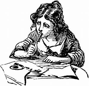 Girl Writing | ClipArt ETC