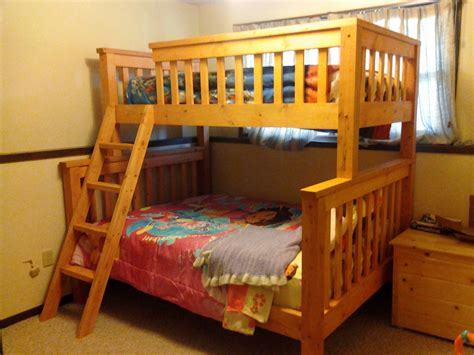woodwork bunk bed plans twin over queen pdf plans