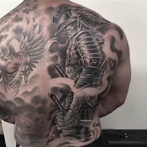 Tattoo Ideen Rücken : 1001 coole und effektvolle samurai tattoo ideen samurai tattoo tattoo r cken und samurai ~ Watch28wear.com Haus und Dekorationen