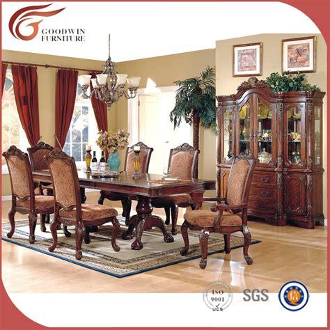 muebles de comedor de madera maciza antiguo tallada  mano