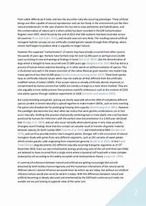 argumentative essay on gmos