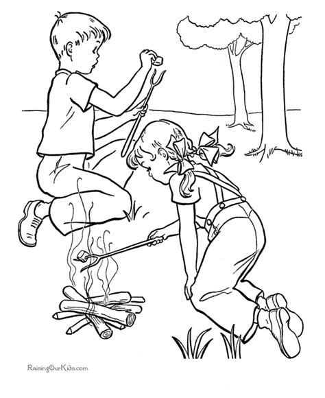 preschool camping coloring pages coloring home 895 | gTeARyeLc