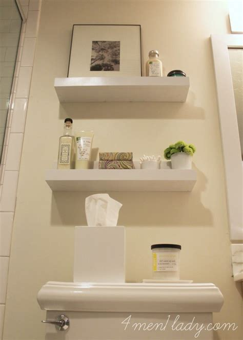 diy shelves   bathroom menladycom diy home