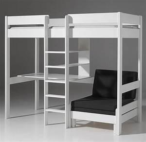 Hauteur Lit Mezzanine : lit en hauteur avec bureau nestis ~ Premium-room.com Idées de Décoration