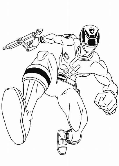 Rangers Power Ranger Coloring Pages Printable Jumping