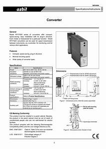 Converter Specifications  Instructions General