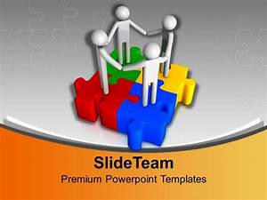 3d Men Unity On Jigsaw Puzzles Business Powerpoint